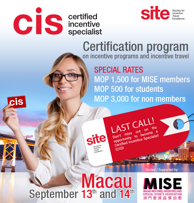 CIS – Certified Incentive Specialist Program – MISE – Macau Meetings ...